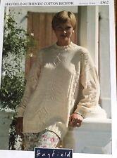 "Hayfield  DK    Knitting Pattern Ladies  Jumper Sweater  Size 32/40"""