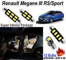 12pcs White Car LED Interior Light Kit For Renault Megane III RS/Sport 2008-2015