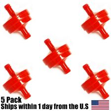 """(5) In Line Red Gas Fuel Filter  1/4"""" Scag Walk Behind Riding Mower 48057-02"""