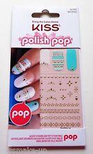 Kiss Polish Pop Nail Art Stickers Turquoise Aztec