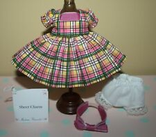 "New Listing8"" Madame Alexander Pink Plaid Outfit tagged Sheer Charm with head-band"