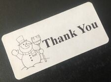 Snowman Thank You Stickers Labels Seals Envelope Packaging Shipping 50 Counts
