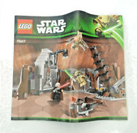 LEGO Star Wars 75017 Replacement Genuine Instruction Manual - Duel On Geonosis
