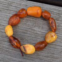 Natural Amber bracelet antique danish amber 18.90G