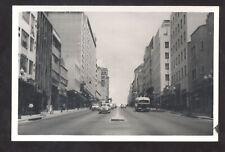 RPPC CARACAS VENEZUELA DOWNTOWN STREET SCENE OLD CARS BUS REAL PHOTO POSTCARD