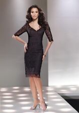 New Social Occasions by Mon Chere Short Formal Dress Black Size14
