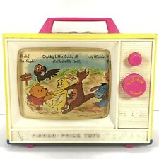 Vintage 1971 Fisher-Price Winnie the Pooh Wind Up Music Box TV. Working!