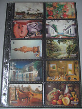 RIO ARTISTS 1999 Complete Set of 10 Different Phone Cards from Brazil
