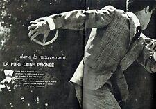 Publicité Advertising 067  1964  la pure laine peignée  ( 2pages) costume homme
