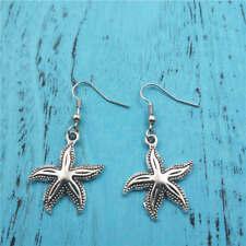 starfish Silver earrings,women Fashion pendants jewelry handmade ear stud