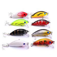 Mini Minnow Fishing Lure Crank Bait #10 Hook Bass Crankbait Tackle 5CM/3.6G RD
