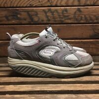 Skechers Shape Ups Shoes Gray & Pink Toning Sneakers Women's Size 8