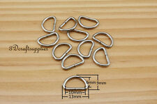 d ring d-rings purse ring Webbing Strapping metal nickel 10mm 3/8 inch 40pcs i24