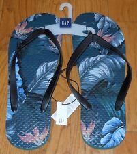 9 10 8 Men/'s GAP Nylon Flip Flops Blue White Size