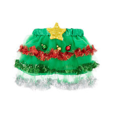 Claire's Christmas Tree Tutu Skirt with Light Up Star Dance Costume Sz S/M