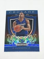 PJ Washington Jr. 2019-20 Panini Prizm Draft Picks #95 Crusade Blue Rookie