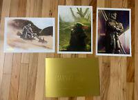 Disney Rewards Exclusive Mandalorian Lithograph 3 Print Set 10x14