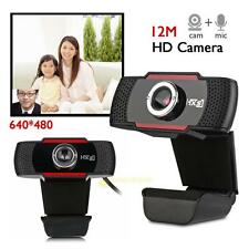 HD 12MP USB 2.0 Webcam Camera With Mic Clip on for PC Computer Laptop Desktop