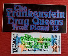 original frankenstein drag queens ticket sticker Wednesday 13 tour new york 1997