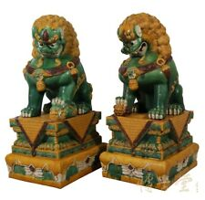 Chinese Antique Huge Colored Glaze Ceramic Foo Dog 13LP42