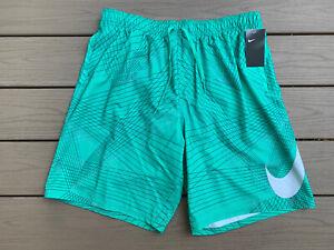 "Nike Men's Breaker 9"" Volley Green/Grey Shorts/Trunks (NESS8416-317) XL MSRP $62"
