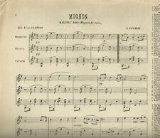Aria Mignon Spartito per Mandolino - Mandola e Chitarra di E. Carosio 1907