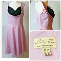 Lindy Bop Sleeveless Sweetheart Neckline Fit & Flare Floaty Midi Dress 16 A307