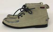 Women's Sebago Docksides Beacon Taupe Suede Ankle Boot Bootie Size 8M