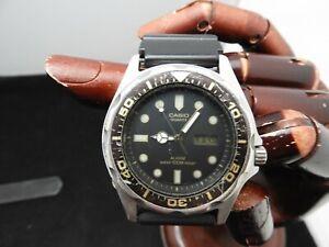 Pre Owned CASIO 343 MMA-200W Alarm Analog Digital Vintage Divers Watch 100m W/R