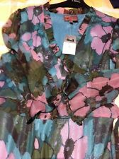 Silk Dress Next Size 12 New Cocktail Silk Chiffon Lined Floral Green Pink
