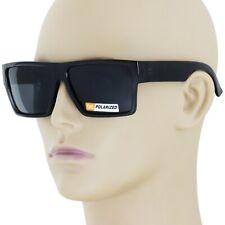 New Black Square Frame Polarized Sunglasses Driving Mens Designer Retro Eyewear