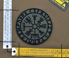 """Ricamata / Embroidered Patch """"Vegvisir Viking Comp"""" OD with VELCRO® brand hook"""