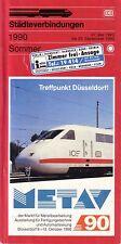Rail Timetable - Deutsche Bahn DB Stadteverbindungen West Germany Summer 1990