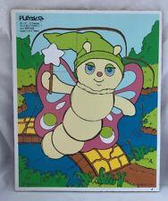 Vintage 1985 Hasbro Gloworm Glo Glow Worm Wood Playskool Puzzle