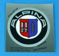 Original BMW Alpina Emblem 51mm Plakette selbstklebend