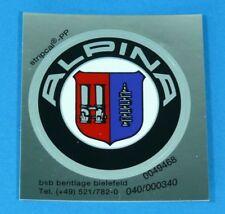 Original BMW Alpina Emblem 51mm Badge Adhesive