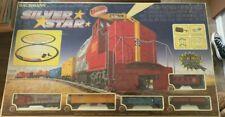 VINTAGE BACHMANN SILVER STAR E-Z TRACK SYSTEM TRAIN SET 8 WHEEL DRIVE 0634
