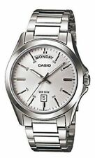NEW Casio MTP1370D-7A1 Men's Day Date Watch SILVER Dial ENTICER Stainless Steel