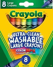 Crayola Ultra-Clean Washable Large Crayons Color Max Nontoxic 8 Ct