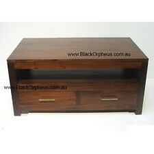 Coffee Table, Timber Coffee Table with Drawers, Mahogany Timber Mahogany.