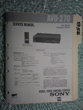 Sony avu-270 service manual original repair book av selector control center