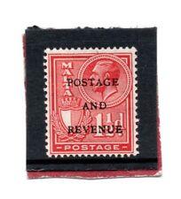 Malta  GV 1928 o/print 1.1/2d rose-red sg 179 HH.Mint