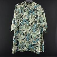 Mens Tori Richard Floral Hawaiian Button Down Camp Shirt Size 3XB 3XL Big Casual