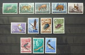Yugoslavia 1954 Slovenia Complete MNH Set - Cat. 140 Euro - Animal Fauna Bird B1