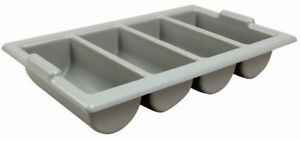 Heavy Duty Grey Cutlery Tray Catering Stacking Restaurant Kitchen Storage