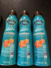 Hawaiian Tropic SPF 50 Spray Ultra Light 6 OZ. lot of 3