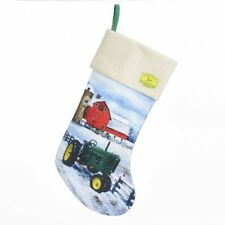 Christmas Stocking NEW * John Deere * 19 Inch Tractor Farm Fabric Kurt S Adler
