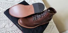 Wolverine 1000 Mile Brown Plain Toe Leather Boots Size 9 D