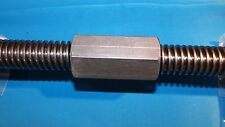 "1""-5 acme coupling nut steel 1 3/8"" hex x 2.75 long LEFT HAND"