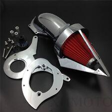 Spike Air Cleaner Kits Filter For Honda Aero 750 Vt750 Intake 1986-2012 Chrome